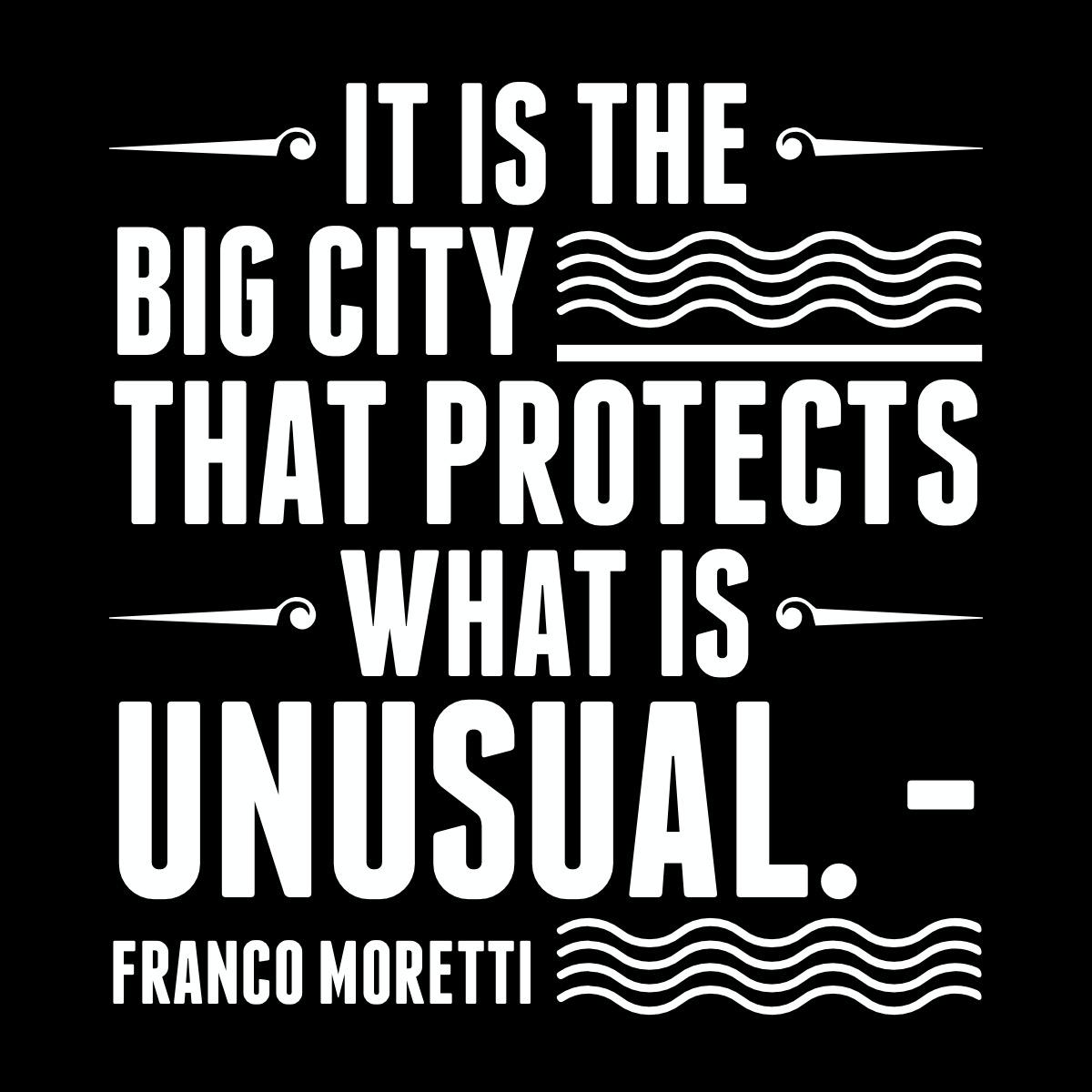moretti quote big cities